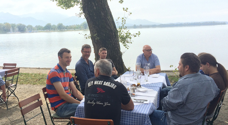 Team von Columbus Systems am Chiemsee